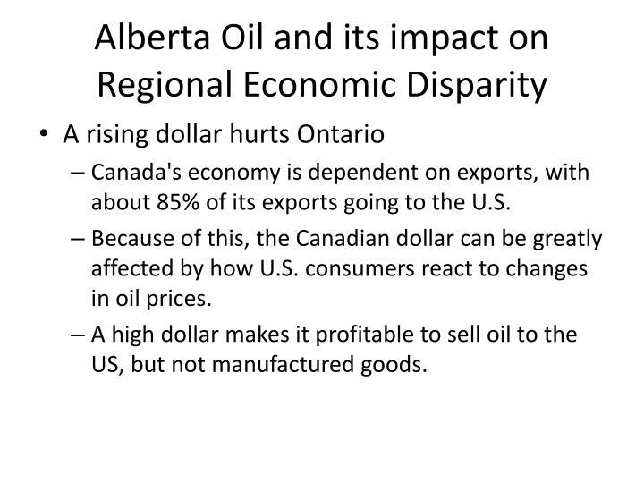 Alberta Oil and its impact on Regional Economic Disparity