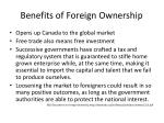 benefits of foreign ownership