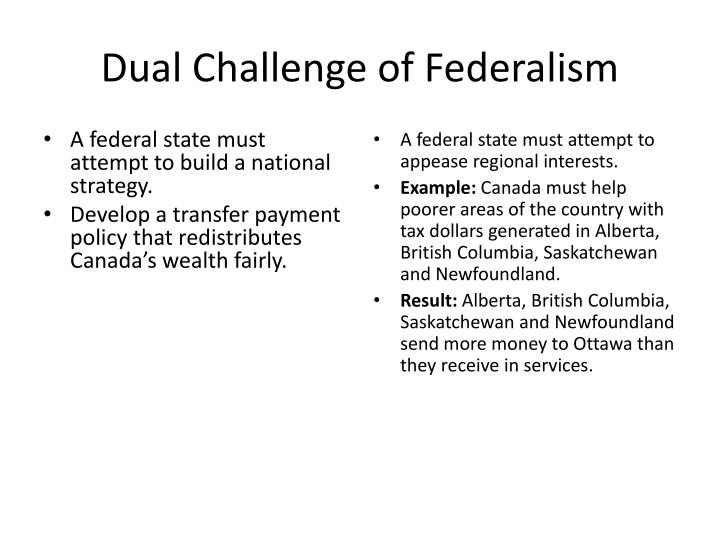 Dual Challenge of Federalism
