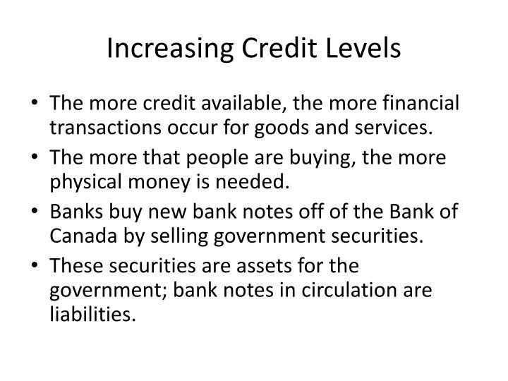 Increasing Credit Levels