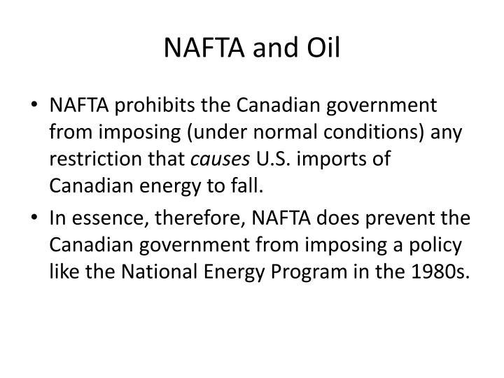 NAFTA and Oil