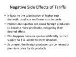 negative side effects of tariffs