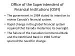 office of the superintendent of financial institutions osfi1
