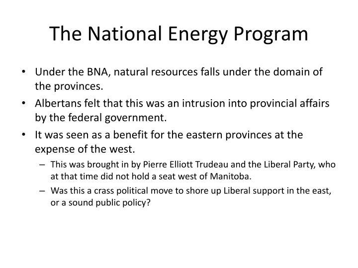 The National Energy Program