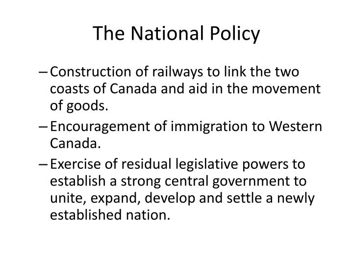 The National Policy