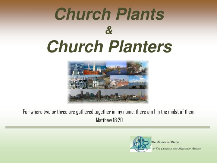 Church plants church planters