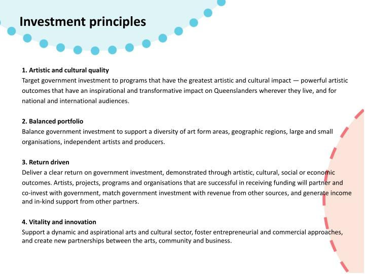 Investment principles