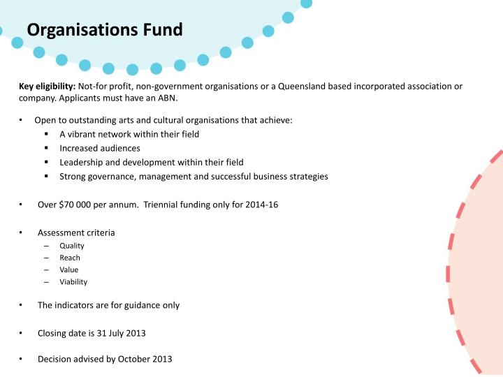 Organisations Fund