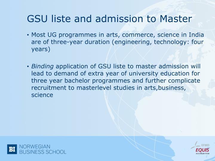 GSU liste and