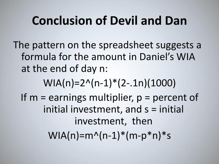 Conclusion of Devil and Dan