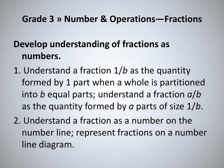 Grade 3 » Number & Operations—Fractions