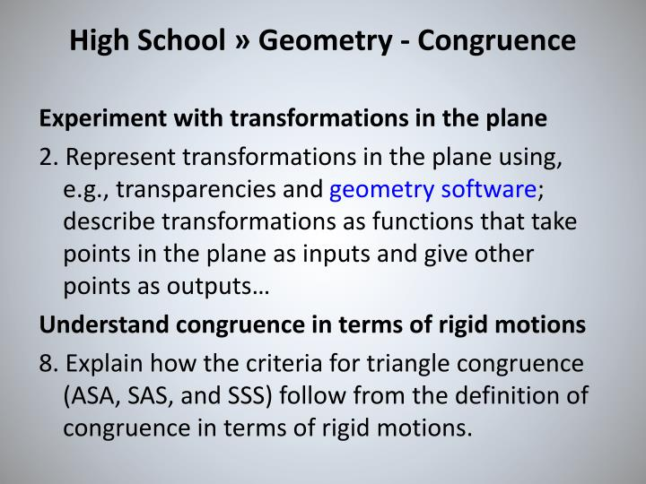 High School » Geometry - Congruence