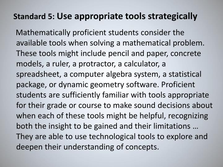 Standard 5: