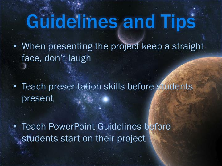 Guidelines and Tips