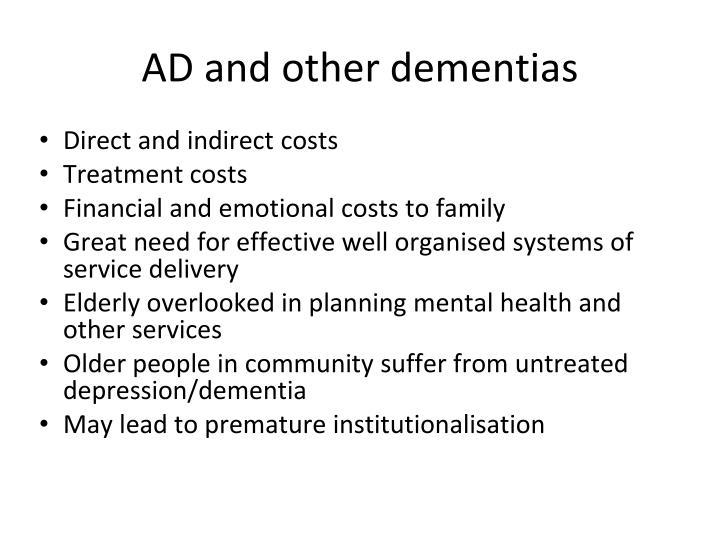 AD and other dementias