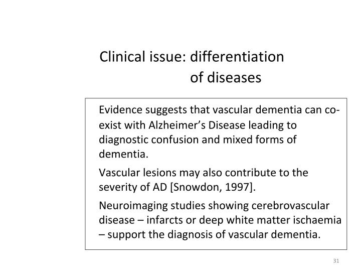 Clinical issue: differentiation of diseases