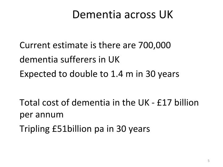 Dementia across UK
