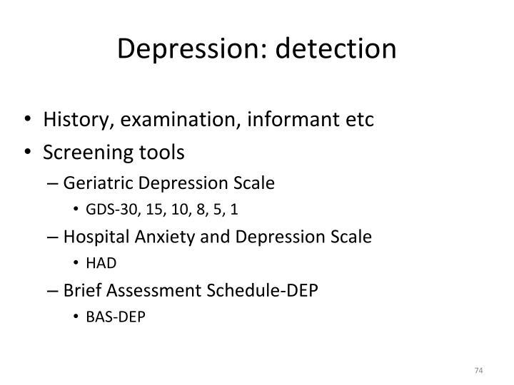 Depression: detection