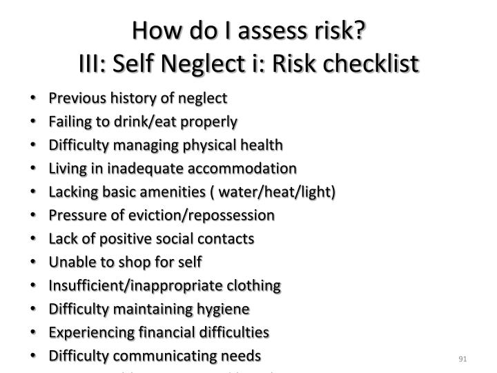 How do I assess risk?