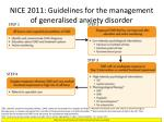 nice 2011 guidelines for the management of generalised anxiety disorder