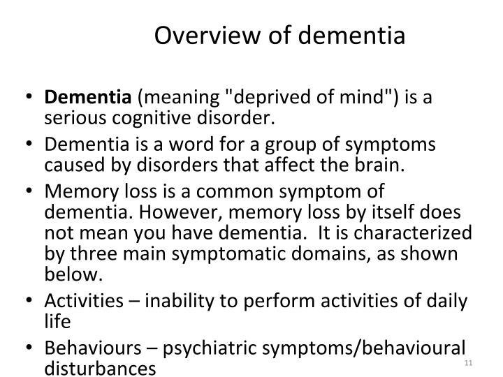 Overview of dementia