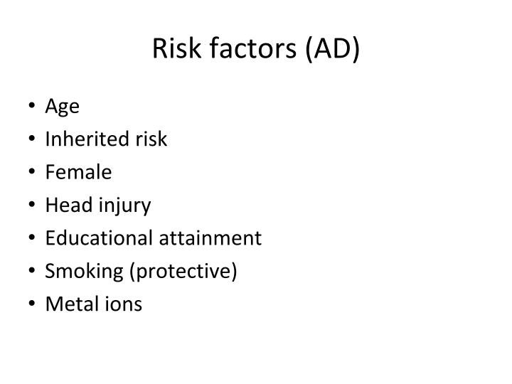 Risk factors (AD)