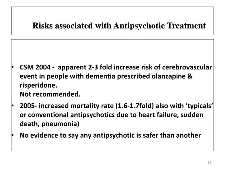 Risks associated with Antipsychotic Treatment