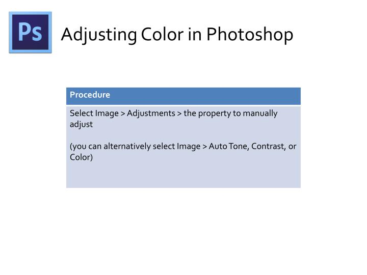 Adjusting Color in Photoshop