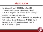 about csun