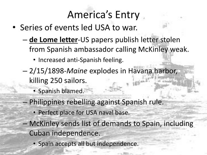 America's Entry