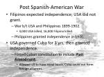 post spanish american war