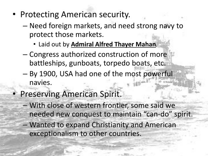 Protecting American security.