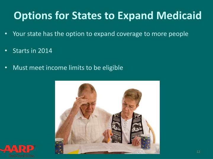 Options for States to Expand Medicaid