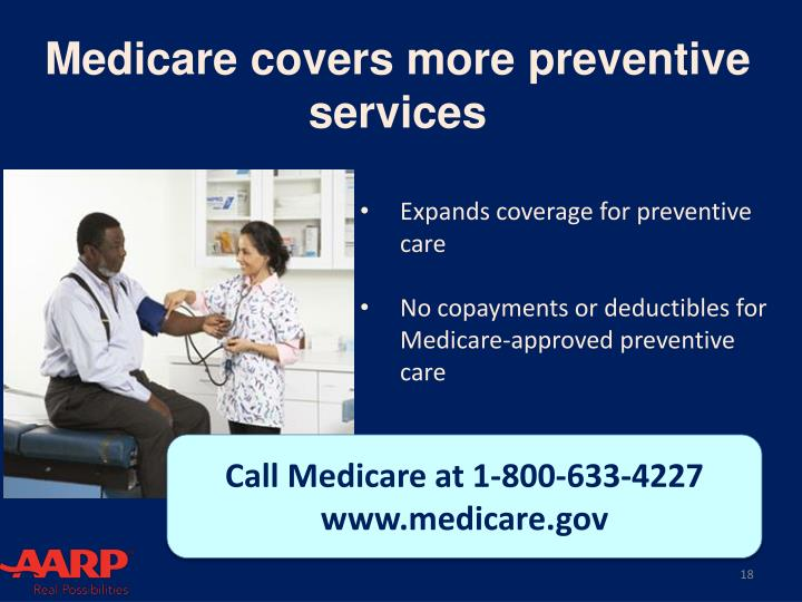 Medicare covers more preventive services
