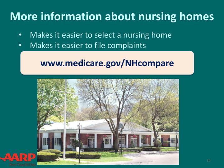 More information about nursing homes