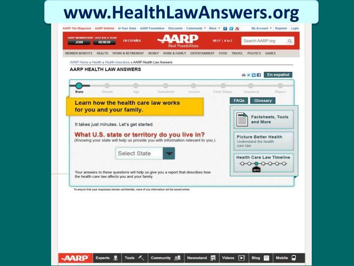 www.HealthLawAnswers.org