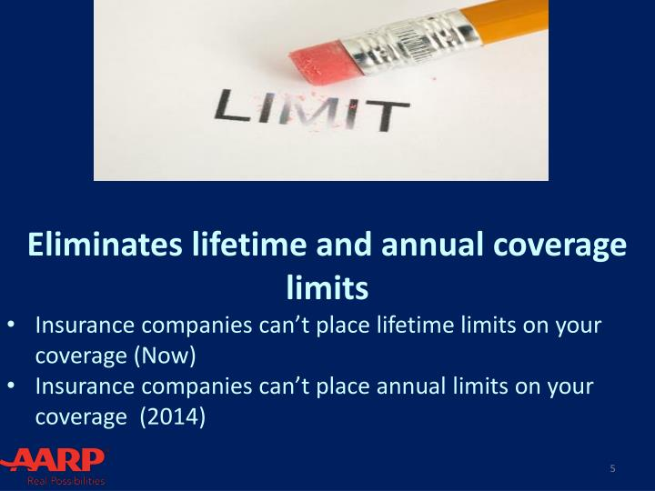 Eliminates lifetime and annual coverage limits