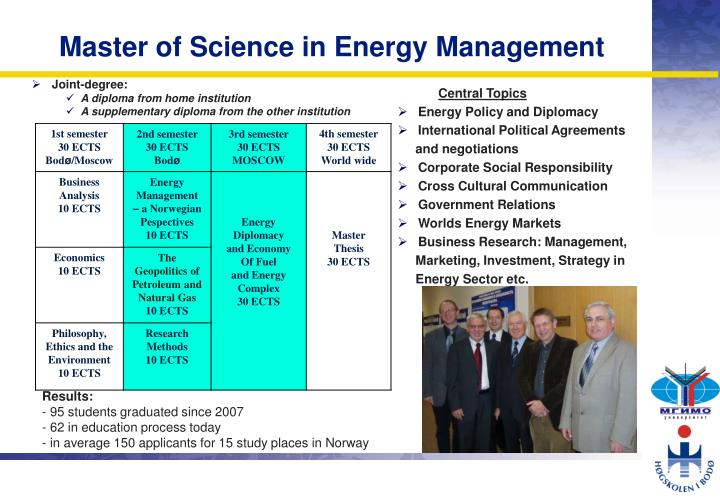 Master of Science in Energy Management