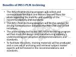 benefits of ims i plm archiving