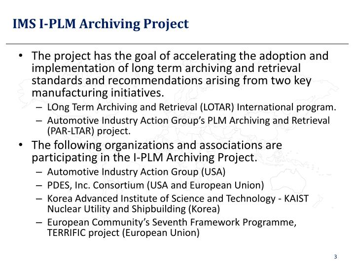 Ims i plm archiving project