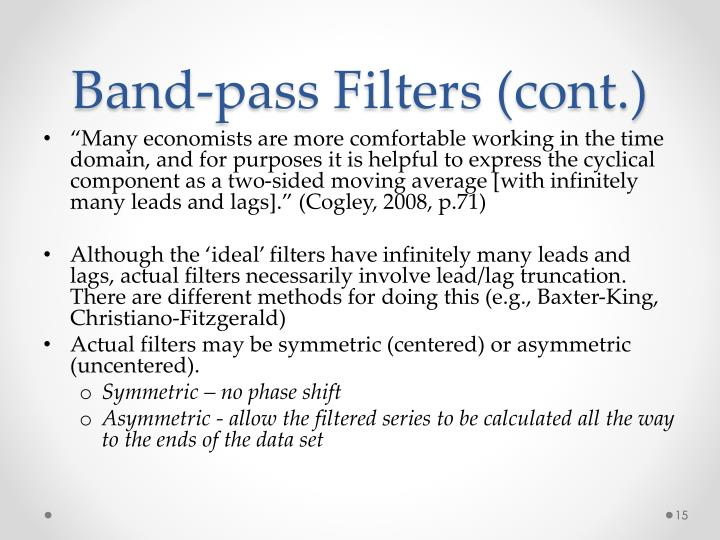 Band-pass Filters (cont.)
