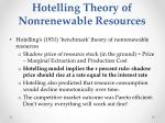 hotelling theory of nonrenewable resources