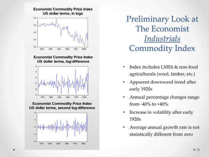 Preliminary Look at The Economist