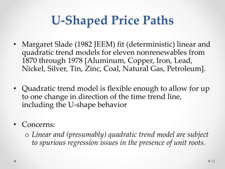 U-Shaped Price Paths