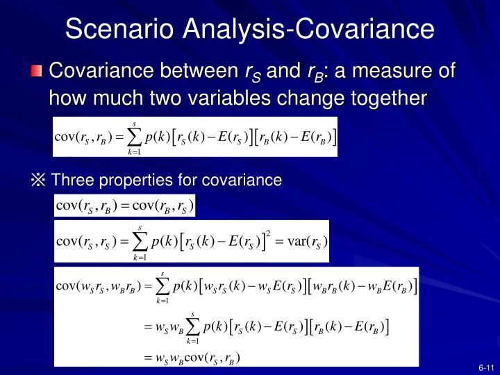 Scenario Analysis-Covariance