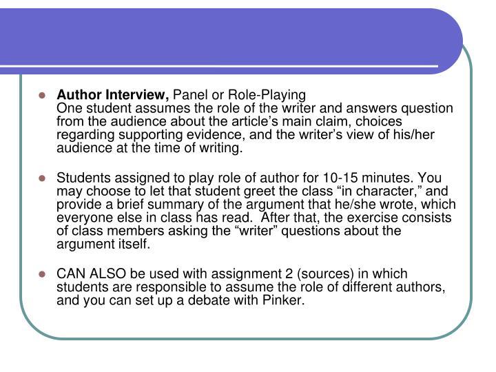 Author Interview,