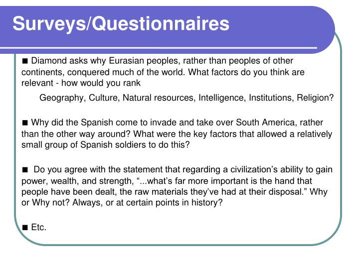 Surveys/Questionnaires