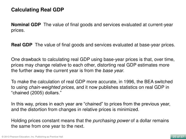 Calculating Real GDP