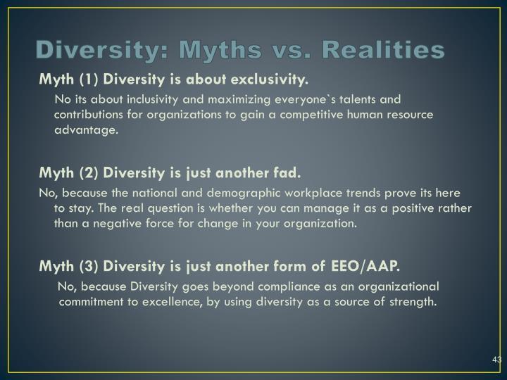 Diversity: Myths vs. Realities