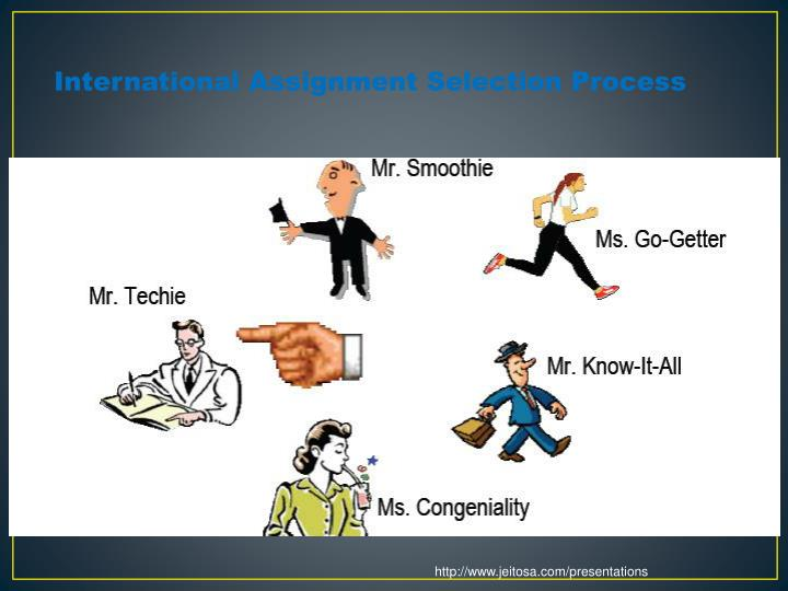 International Assignment Selection Process